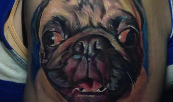 arm-pug-tattoo-on-lynn-blake-by-tj-schunemann-of-underworld-tattoo-company
