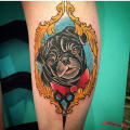 Oscar the Pug - by Jill Hollingsworth of Buju Tattoo