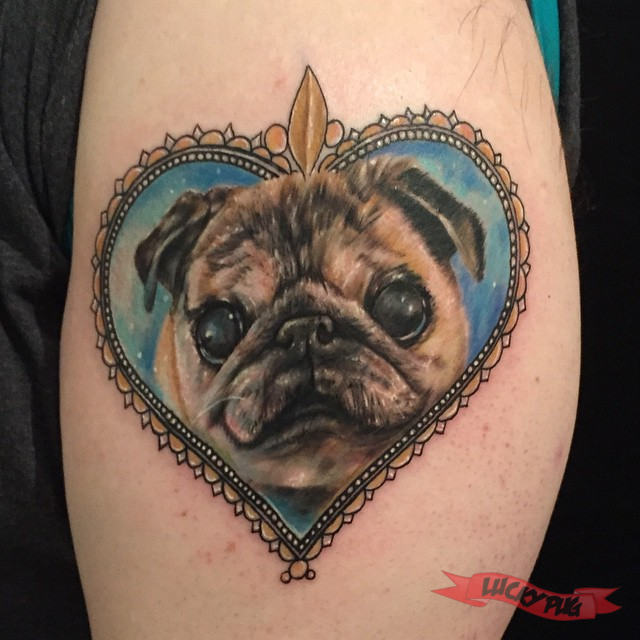 color arm pug tattoos picture gallery sleeve pug tattoo