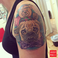 Tofu the Pug - by Fizz of- La Tattoo Studio, Bayswater, Perth, Aus