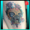 Zombie Pug Tattoo - by Ryan F.N. Myles