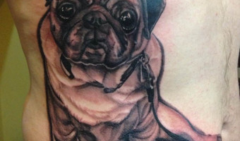 side-pug-tattoo-by-ron-mor-of-the-end-is-near-brooklyn-ny