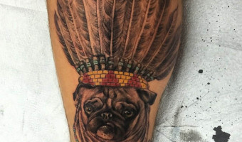 leg-pug-tattoo-on-aaron-jones-by-patrick-thomas