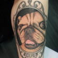 RIP Gus - Artist: Yana of Lucky Dog Tattoos in Fresh Meadows, Queens, NYC