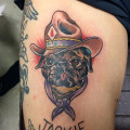 Cowboy Pug Tattoo Submitted by Miyata Hideharu, Japan