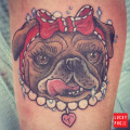 Leg Pug Tattoo by Vanessa Redmond