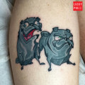 Two Pugs Tattoo by Ryan Campbell of Memento Tattoo and Gallery