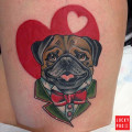 Leg Pug Tattoo by Jody Dawber