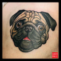 Leg Pug Tattoo by Marin Matczyk