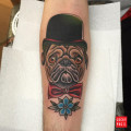 Leg Pug Tattoo Submitted by Tom Brown