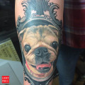 RIP April the Pug - by Robert Forrer of Ace Tattoo