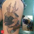 Pugalope Tattoo - by Angela Leaf