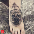 Foot Pug Tattoo by Vee