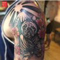 Japanese Pug Tattoo of Noah the Pug by DTMS