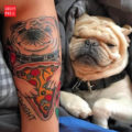 Pug & Pizza Tattoo on Felix