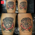Leg Pug tattoo submitted by Herminia