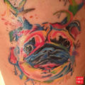 Water Color Pug tattoo submitted by Mariah K Enriquez