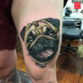 Frankie the Pug Tattoo - by Alex Brock