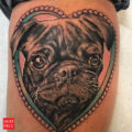 Billie Slayer the Pug - artist: Randy at Electric Tattooing Fresno California