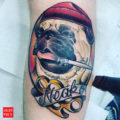 Pug Tattoo by Toby Gawler of Seven Doors Tattoo London