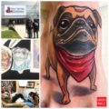 Foot pug tattoo by Erica Chunli