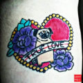 True Love Pug Tattoo submitted by IG paproszekedge