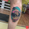 Nana the pug - by Marta Pari, done at Holy ink tattoos studio Firenze