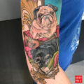 RIP Stinky the Pug - by Kate Crane of dire wolf tattoo studio