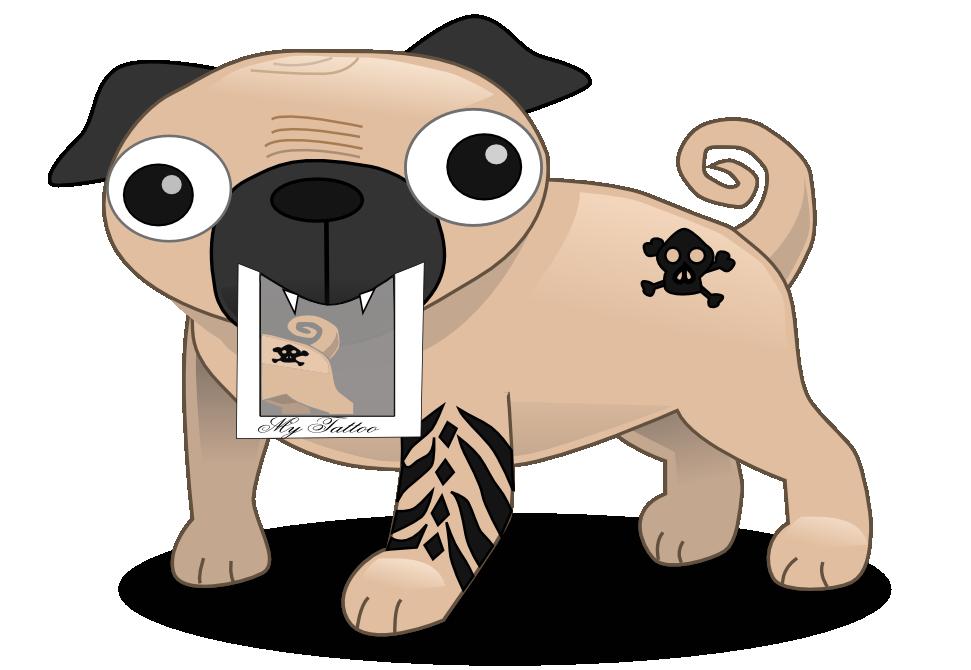 b895c3b4 Pug Tattoos | Tattoo Design Inspirations | Pug T-shirts