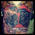 Adrian's Beloved Lala & Ziggy - Tattooed by Amanda Cain, Melbourne, Australia