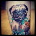 Pug n' Chicken - Tattooed by Cory D at Off Whyte Tattoos in Alberta, Canada