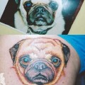 Pug Portrait Tattoo by Anne Morando at Adorn Body Art
