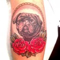 Lydia the Black Pug - Tattooed by Kapten Hanna at Idle Hand Tattoo in San Francisco