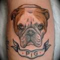 Pig the English/British Bulldog -  Tattooed by Kapten Hanna at Idle Hand Tattoo