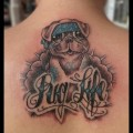 'Paisley the Pug' - Pug Life on the Top of the Back of Paige Patterson  - Tattooed by Ryan the 'Fiend' Howe ar Lost Anchor Tattoo