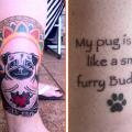 "Tracy's Pug Buddha Tattoo - """"My pug is wise, like a small furry Buddha."""