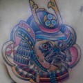 Japanese Samurai Pug - Tattooed at Oddball Studios