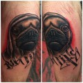 Pug Life - Tattooed by Josh Rees of Hellfire Tattoo
