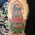 Babushka Pug - Tattooed by Joe Ayala at Aces Tattoos