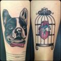 Frenchie Tattoo - by Fema at Elegant Ink Tattoo Shop