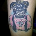 Arm Pug Tattoo - Tattooed by David Daniels at The Cat with the Tat in Brigg