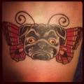 Puggerfly - Tattooed by Ezra Haidet