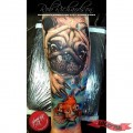 Underwater Pug - Tattooed by Rob Richardson of Immortal Art Studio