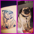 Ava (The Big Wheeze) the Pug - Tatooed by Brian Level at Verses Tattoo
