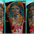 Marie Antoinette with Pug - Tattooed by Craig Foster of Skinwerks Tattoo