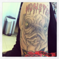 Monster the Pug - Tattooed by Doc Cooper at Saint Tattoo