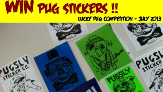 WIN Pug Stickers! – Lucky Pug Competition July 2013
