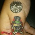 Pug on a Thumb - Tattooed by Daniel Hartley of Distinktion Tattoo Studio, UK