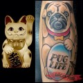 """Lucky Pug"" - Tattooed by Sterling Barck of CM Tattoo"