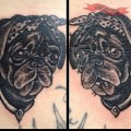 Doris the Pug Tattoo by Sebastian Barraza at Crazy Fresh Tattoo, Stockholm, Sweden